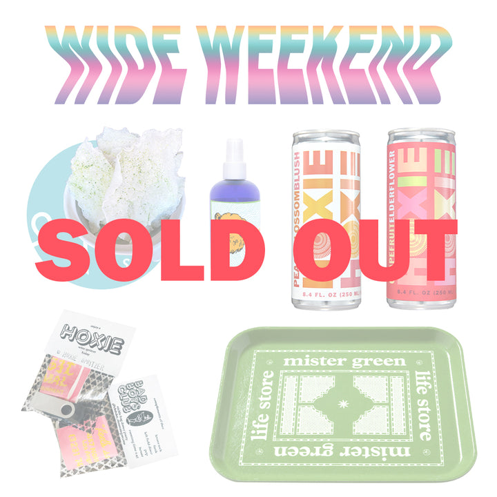 A special limited edition kit brought to you by Hoxie Spritzer. Bundle includes: Lasa LA snacks, Mister Green tray, Virgil Normal dance party music mix,  Hoxie Spritzer x Jacob Wilder hand sanitizer, Hoxie Spritzer Grapefruit Elderflower, and Hoxie Spritzer Peach Blossom Rosé. Hoxie Day LA is available exclusively to Los Angeles area residents.