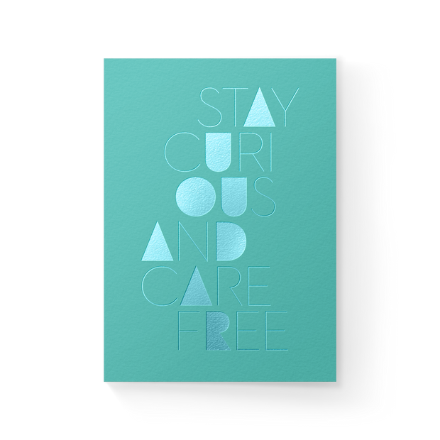 Stay Curious Blank Greeting Card 1