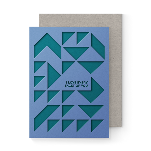 Every Facet Pocket Greeting Card 1