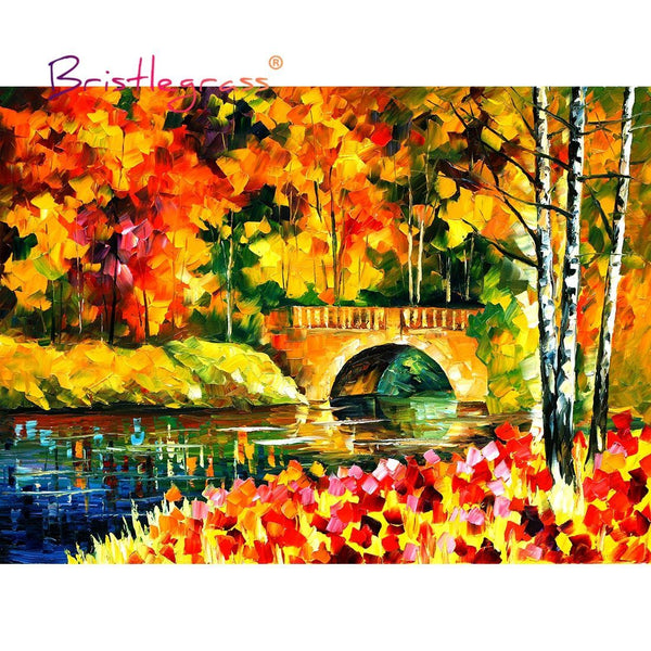 Autumn Bridge - Wooden Jigsaw Puzzles - 500 or 1000 Pieces Purfect Puzzles 500 Piece