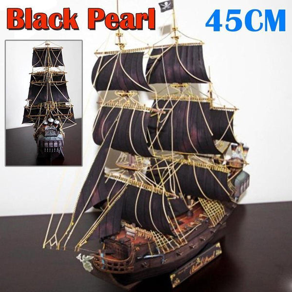 Black Pearl - 3D Paper Puzzle 1:200 Scale Sailboat Purfect Puzzles
