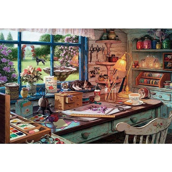 Crafting Table - Wooden Jigsaw Puzzle 300 500 1000 Pieces Purfect Puzzles puzzle 300 pieces China