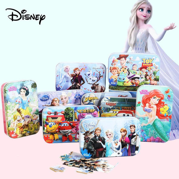 Disney Scenes - 3D Wooden Puzzles from Frozen Toy Story Mickey Mouse Jurassic Park Car Spiderman Princesses Nemo Avengers Purfect Puzzles