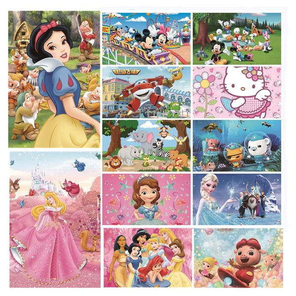 Disney Series - 1000 Piece Wooden Jigsaw Puzzle - Mickey Mouse Princess Cartoon Purfect Puzzles