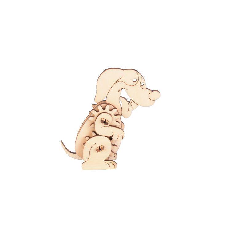 Dog - 3D Wooden Mechanical Child Puzzle Purfect Puzzles