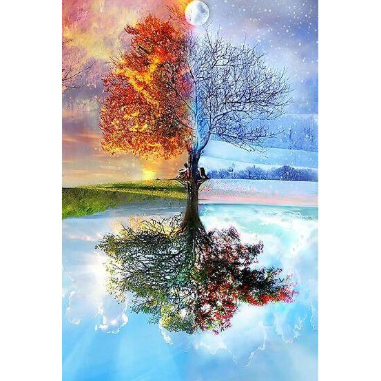 Four Seasons Tree - Wooden Jigsaw Puzzle 1000 Pieces Purfect Puzzles