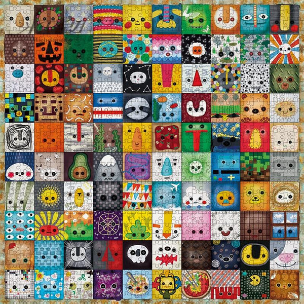 Quilting Faces - Wooden Jigsaw Puzzle 500 900 Pieces Purfect Puzzles