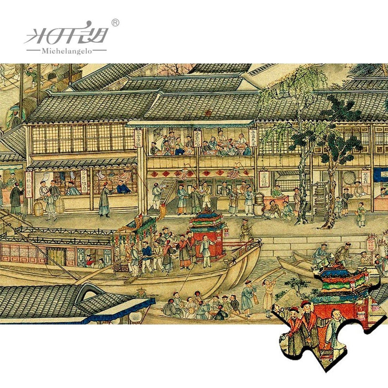 Suzhou's Golden Age - 1200 Piece Wooden Jigsaw Puzzle Purfect Puzzles