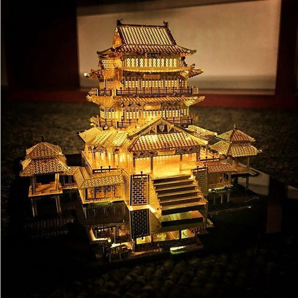 TengWang Pavilion - 3D Metal Lighted Puzzle Purfect Puzzles with led light