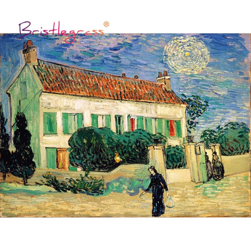 White House at Night Wooden Jigsaw Puzzle 500 Pieces by Vincent van Gogh Purfect Puzzles