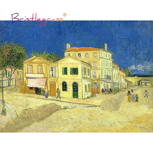 Yellow House - Wooden Jigsaw Puzzles 500 or 1000 Pieces by Vincent van Gogh Purfect Puzzles 1000 Pieces
