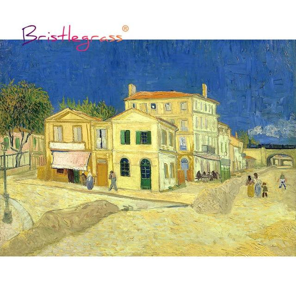 Yellow House - Wooden Jigsaw Puzzles 500 or 1000 Pieces by Vincent van Gogh Purfect Puzzles 500 Pieces