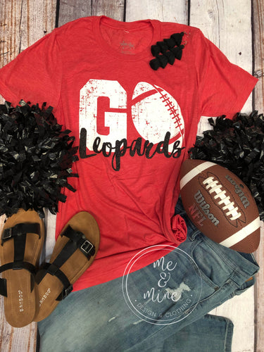 Go Leopards - Football Tee