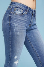 Load image into Gallery viewer, Judy Blue Mid Rise Skinny Distressed
