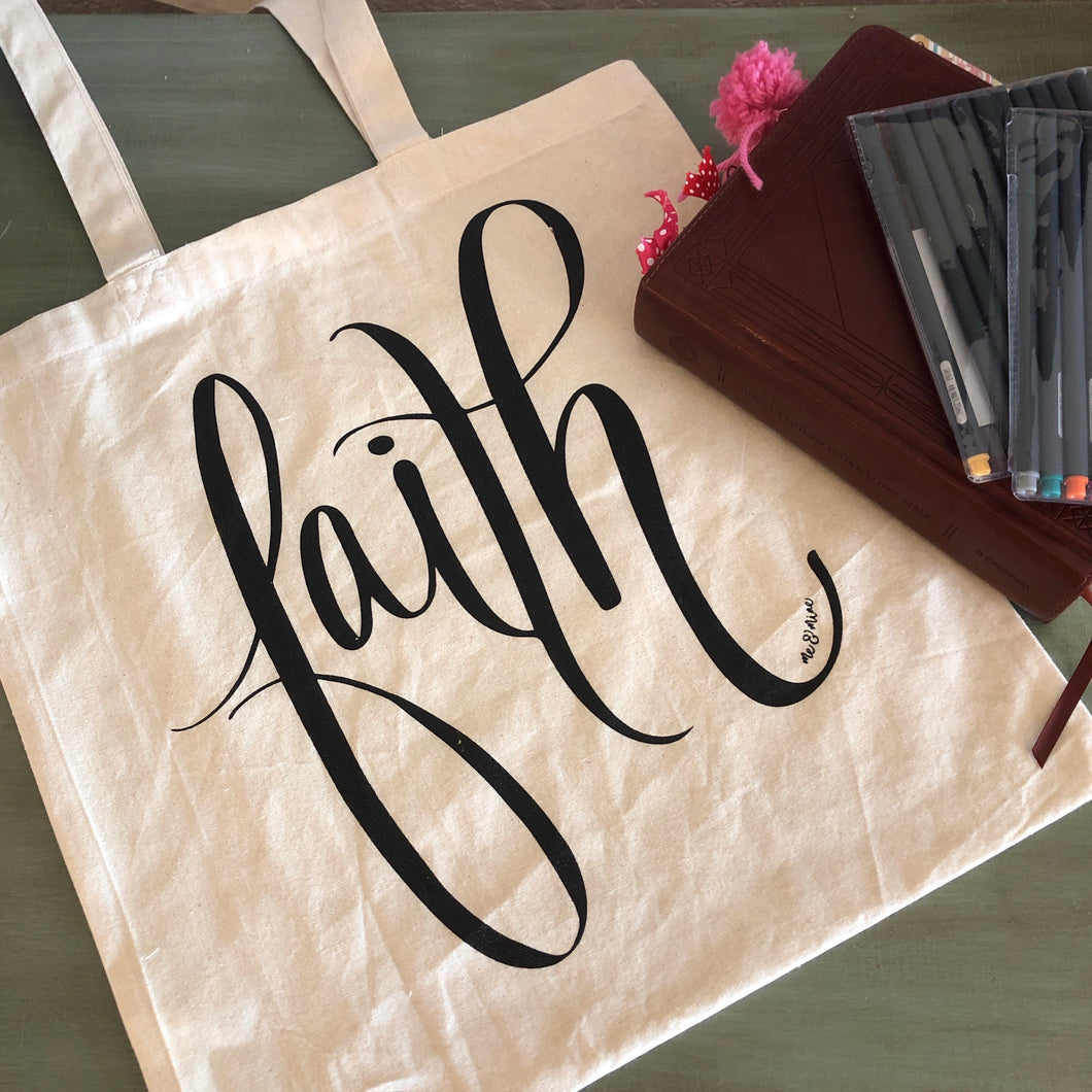 Faith Canvas Bible Bag