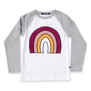 Hello Stranger | Rainbow Raglan Tee - Found My Way Invercargill