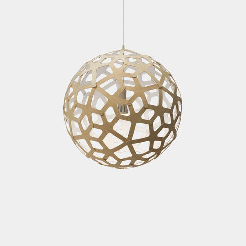 David Trubridge| Coral Pendant Kitset | 600mm -  White One Side - Found My Way Invercargill