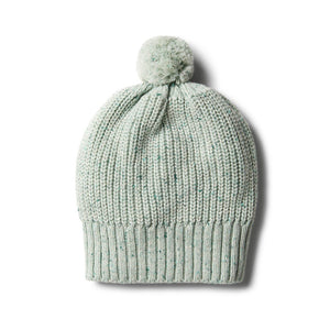 Wilson & Frenchy | Fern Ribbed Knitted Hat With Pom Pom - Found My Way Invercargill