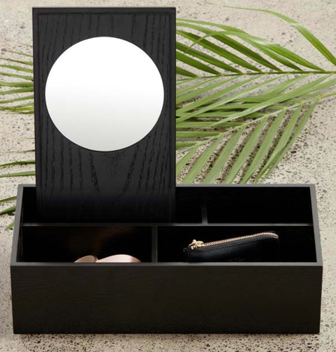 Nel Lusso | Tokyo Accessories Box w Mirror - Black - Found My Way Invercargill