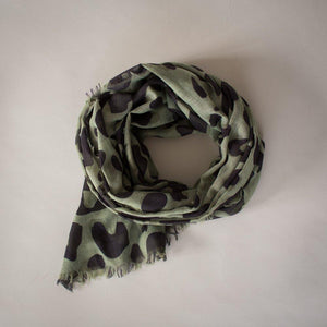 Sophie | Wild Maxi Scarf - Olive - Found My Way Invercargill