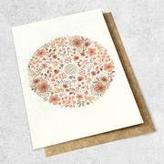 Ink Bomb | Floral Mandala Heart Card - Found My Way Invercargill