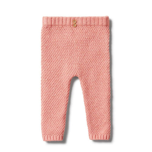 Wilson & Frenchy | Knitted Pearl Legging - Flamingo Fleck - Found My Way Invercargill