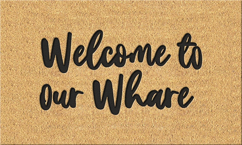 Moana Road | Doormat - Welcome to our Whare - Found My Way Invercargill