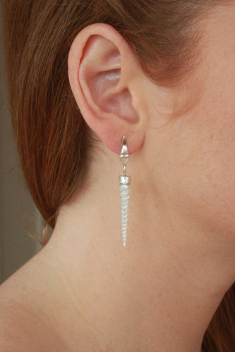 Pam Kerr | Infinity Earrings Mother of Pearl Spirals - Found My Way Invercargill