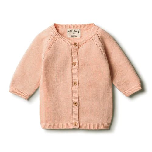 Wilson & Frenchy | Tropical Peach Knitted Cardigan - Found My Way Invercargill