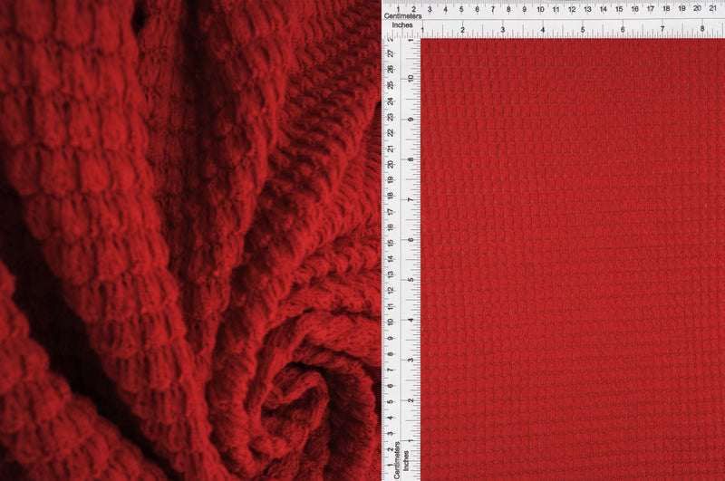 KNT4190 -RED  SOLID KNIT