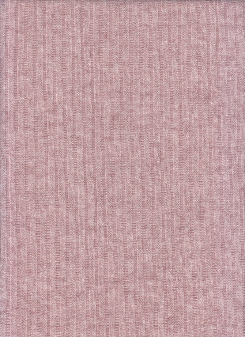 KNT4134 -DUSTY ROSE  RIBBED, YARN DYED KNIT