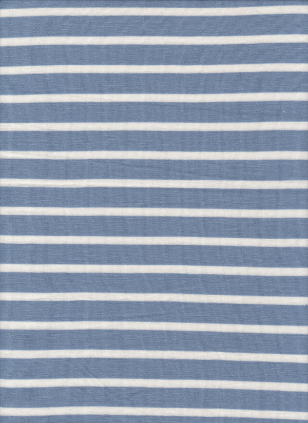 KNT3583 -DENIM/IVORY HORIZONTAL STRIPE, STRIPE YARN DYED KNIT