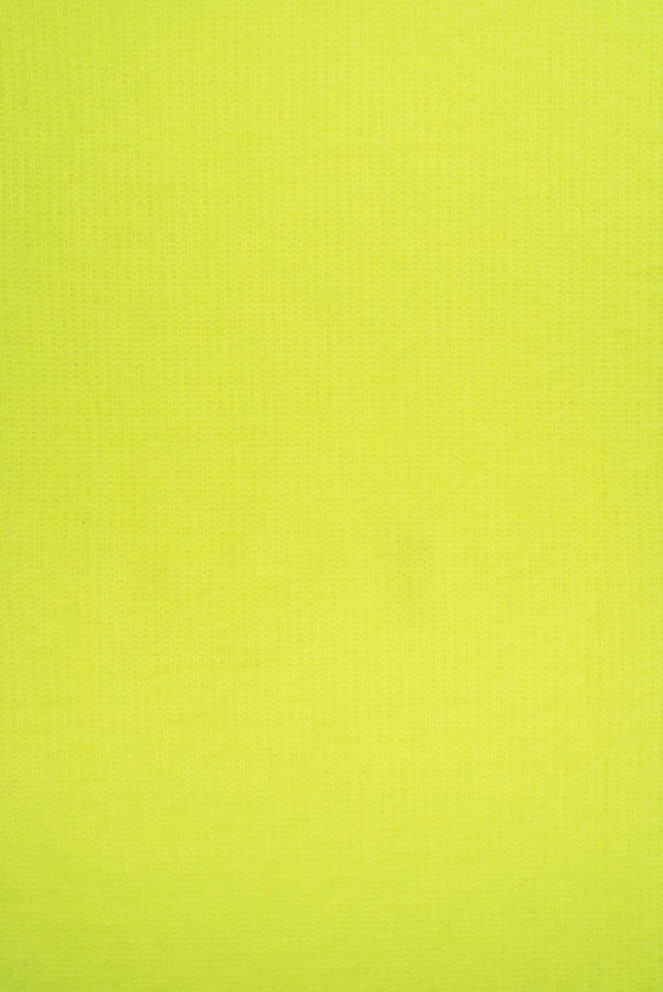 KNT4137 -NEON YELLOW  SOLID KNIT