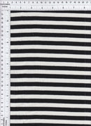 KNT3072 -BLACK/IVORY STRIPE YARN DYED KNIT