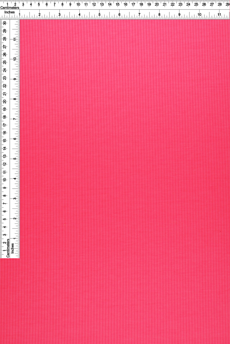KNT3422 -NEON PINK  RIBBED, SOLID KNIT