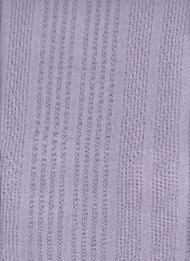 KNT3968 -LILAC SOLID  RIBBED KNIT