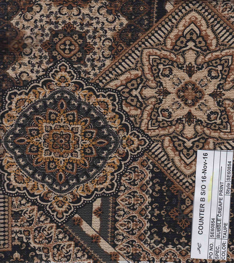 CRP3324-SE60854 -TAUPE  PRINT WOVEN