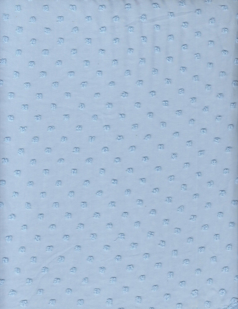HIMLT-3132 -BLUE FRENCH DOT SOLID WOVEN