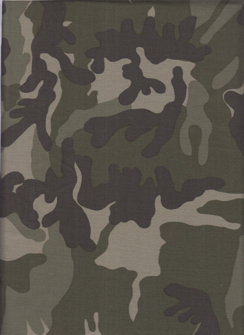 BNG622-Q80637 -ARMY CAMOUFLAGE PRINT KNIT