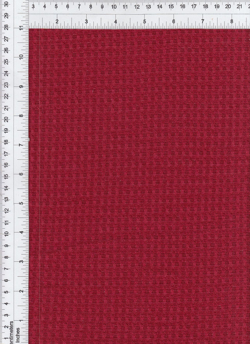 KNT3634 -RED  SOLID KNIT