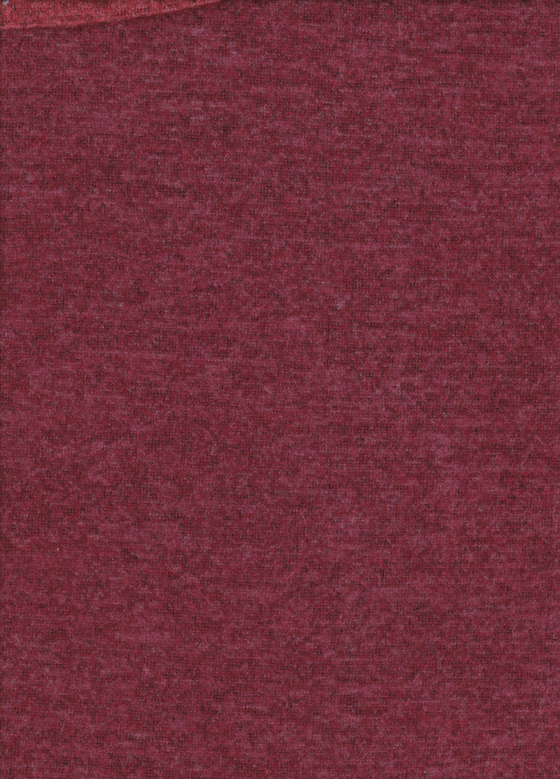 KNT3629 -BURGUNDY RED  SOLID KNIT