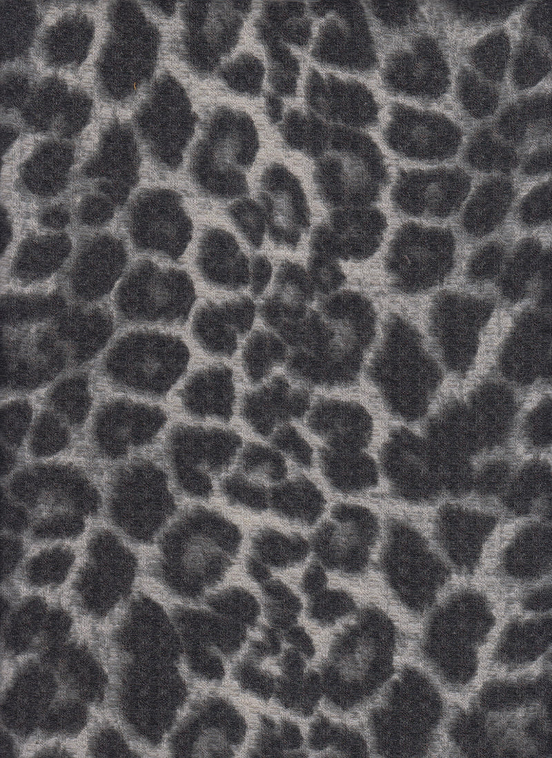 KNT3634-S20350A -SILVER ANIMAL, CAT, CHEETAH PRINT KNIT