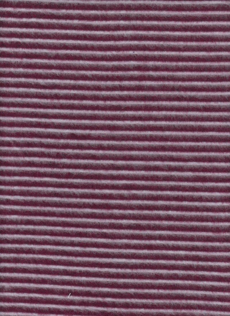KNT4045 -BURGUNDY/IVORY  YARN DYED KNIT