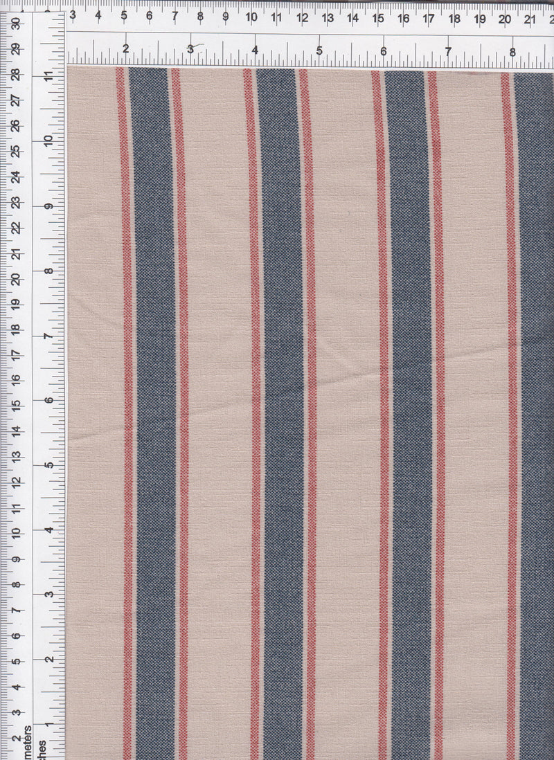POP4055-DU1861 -NAVY/TAUPE  PRINT WOVEN