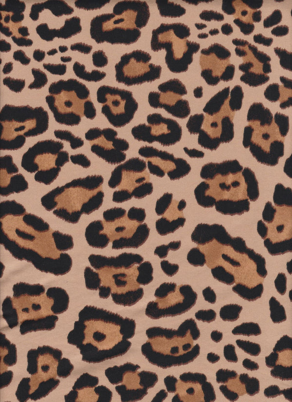 KNT2100-SE30675 -TAUPE ANIMAL, LEOPARD PRINT KNIT