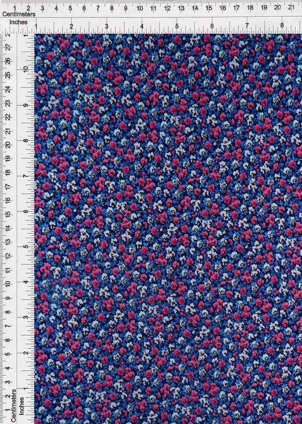 CRP3324-SR70210 -NAVY DITSY, FLOWER, FLORAL PRINT WOVEN