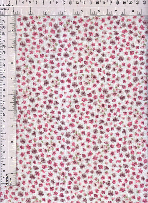 CRP3324-Q90949 -IVORY DITSY, FLOWER, FLORAL PRINT WOVEN