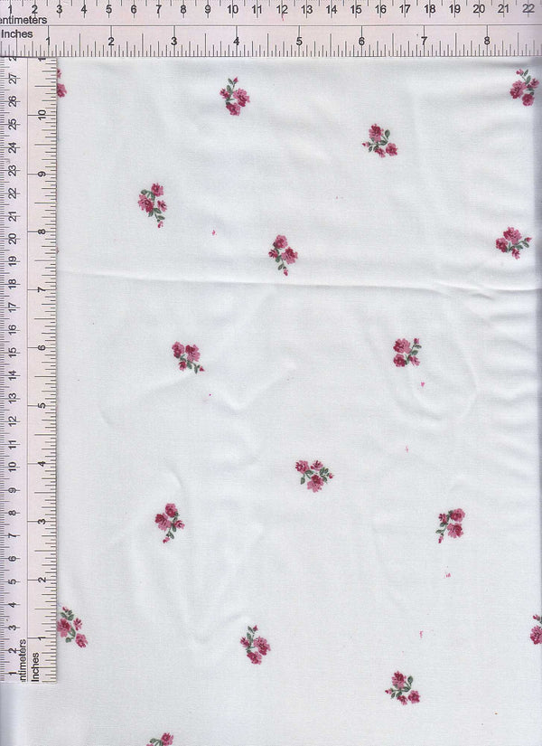POP948-Q90731 -IVORY DITSY, FLOWER, FLORAL PRINT WOVEN