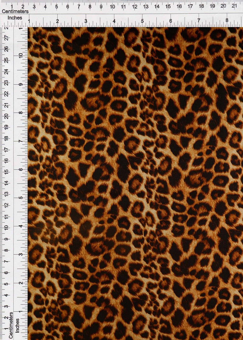 POP4206-SE20351 -BROWN ANIMAL PRINT WOVEN
