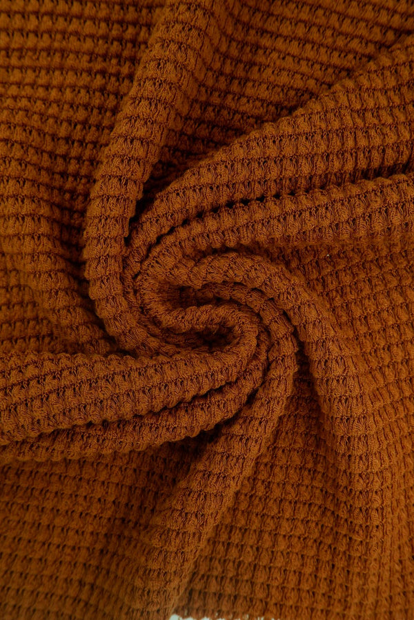 KNT4190 -CAMEL  SOLID KNIT